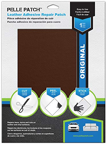 Pelle Patch - Leather & Vinyl Adhesive Repair Patch - 25 Colors Available - Original 8x11 - Tan