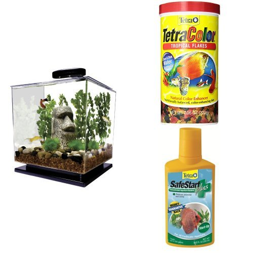 tetra cube aquarium kit flake fish food and safestart bacteria starter kit best fish bowls. Black Bedroom Furniture Sets. Home Design Ideas