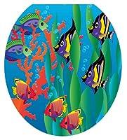 Toilet Tattoos TT-1800-R Under the Sea Design, Round