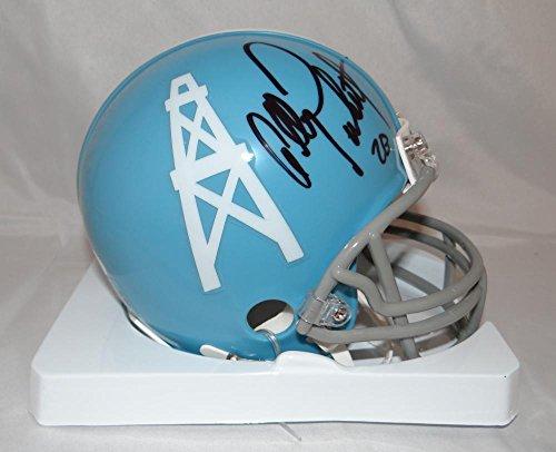 Autographed Allen Pinkett Mini Helmet - TB Blue Witnessed Auth - JSA Certified - Autographed NFL Mini Helmets ()