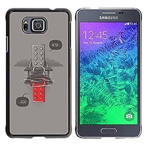 Be-Star Único Patrón Plástico Duro Fundas Cover Cubre Hard Case Cover Para Samsung GALAXY ALPHA G850 ( Funny Alter Toy Message Hipster )