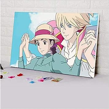 Tytytr685 Diy Pintura Digital Hayao Miyazaki Cartel De Dibujos