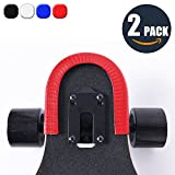 MAXPRO Skateboard Rugged Heavy Duty Shockproof Hybrid Dual Layer Hard Rubber Bumper Protective Guard - Red