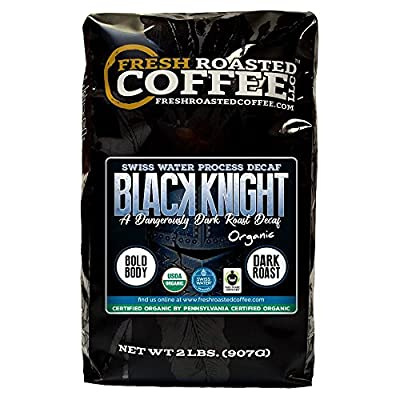 Black Knight Decaf Organic Fair Trade Coffee, Whole Bean, Water Decaf, Fresh Roasted Coffee LLC.