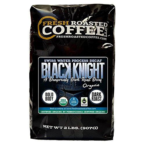 Black Knight Decaf Organic Fair Trade Coffee, Whole Bean, Water Decaf, Fresh Roasted Coffee LLC. (2 LB) ()