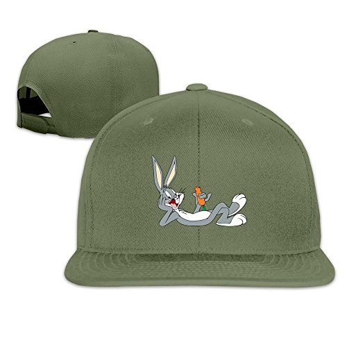 Bugs Bunny Baseball Bugs (Unisex Bugs Bunny Baseball Caps ForestGreen)