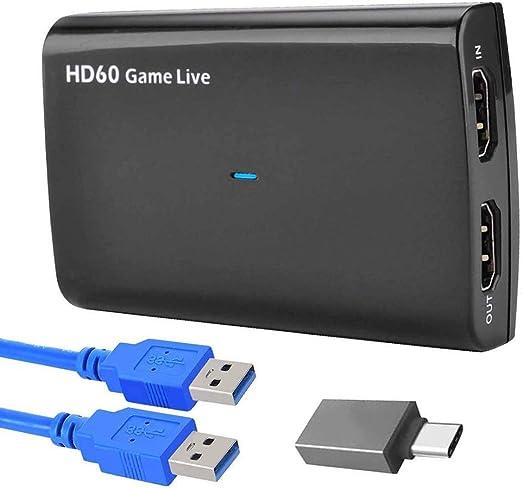 Tarjeta De Captura De Juegos, Caja De Dispositivo De Captura De Video 4K HDMI A USB