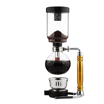La Máquina De Café A La Taza De Café Con Leche Sistema De Café Manual Del Sifón De La Máquina De Café Del Pote Del Sifón De Cristal Del Hogar: Amazon.es: ...