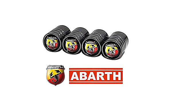 FIAT 500 Tapones antipolvo para v/álvula con llave y llavero para todos los modelos de pl/ástico ABS antiadherente