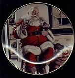 COCA COLA CHRISTMAS PLATE, SANTA PAUSE