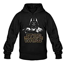 ERICP Men's Darth Vader Star Wars Logo Hoodie L Black