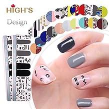 HIGH'S Exclusive Design Series Manicure Nail Polish Strips Nail Wraps, Secret Symbols