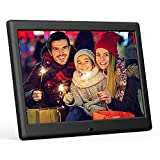 DBPOWER HD Digital Photo Frame IPS LCD Screen with Auto-Rotate/Calendar/Clock Function & Remote Control (10 inch)