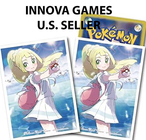 Pokemon Center Card Sleeves - Lillie School Girl Outfit Exclusive - 64ct Pack