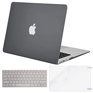 MOSISO Plastic Hard Shell Case & Keyboard Cover & Screen Protector Only Compatible with MacBook Air 13 inch (Models: A1369 & A1466, Older Version 2010-2017 Release), Gray