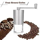 Coffee Bean Grinder Silver Aluminium Hand Manual Handmade Coffee...