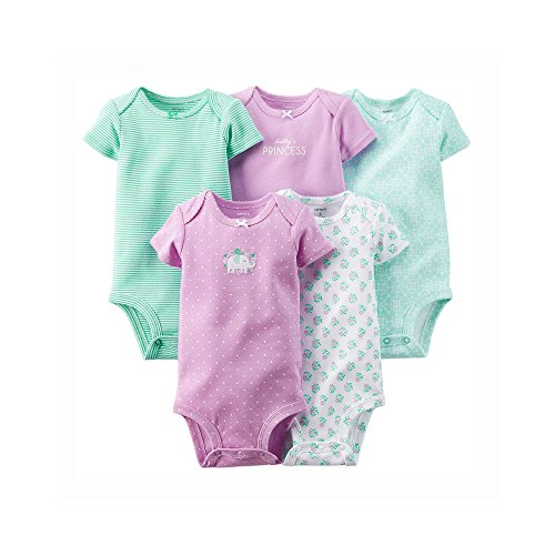 Carter's Baby Girls' 5 Pack Bodysuits (Baby) - Purple - 12M