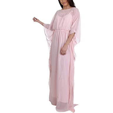 Juicy Couture Black Label Womens Georgette Embroidered Caftan Dress Pink  XS. Roll over image to zoom in e5dba60ec