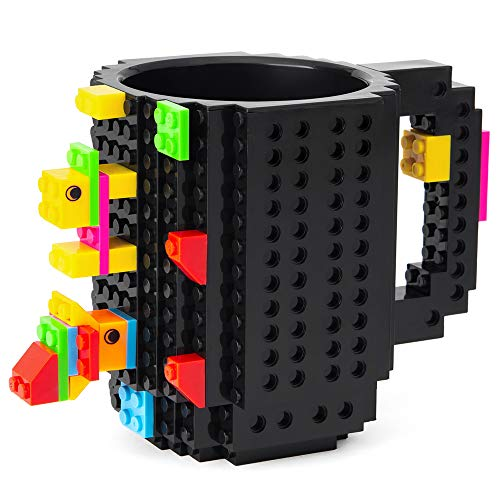BOMENNE Build-on Brick Mug,Novelty Creative Compatible with LEGO DIY building Blocks Coffee Cup with - http://coolthings.us