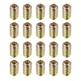 uxcell® Furniture Threaded Insert Nuts Carbon Steel M6 Internal Thread 20mm Length 20pcs