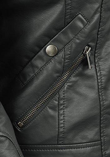Funnel Asphalt Neck Jacket Moda Pulani Jacket with Made Women's Biker Fake Leather Leather of Vero Faux 4pZvzwxTqx