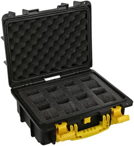 Invicta DC8BLK/YEL Eight Slot Collector Box, Yellow / Black