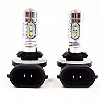 QUIOSS 2 pcs Headlight Bulb LED 80W Super White For Arctic Cat Snowmobiles