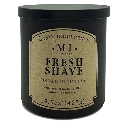 Manly Indulgence Fresh Shave Candle With Notes of Musk, Vanilla, Amber and (Manly Scent)