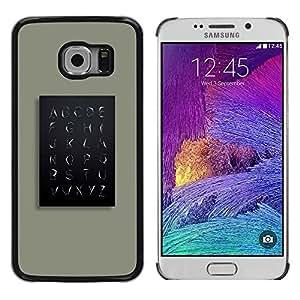 iKiki Tech / Estuche rígido - School Teach Teacher Minimalist - Samsung Galaxy S6 EDGE SM-G925