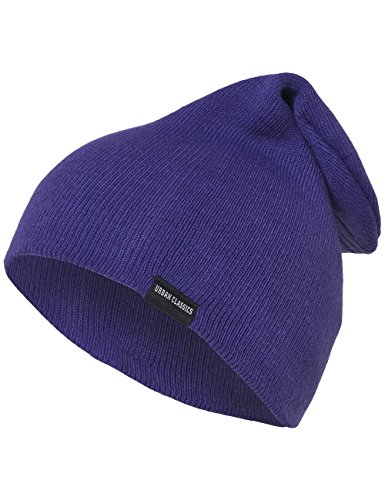 Urban Gorro purple Unisex Classics Adulto Morado Punto de Long Beanie rqR6xrOw