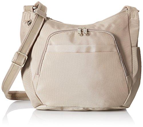 Travelon Anti-Theft Cross-Body Bucket Bag,One Size,Stone