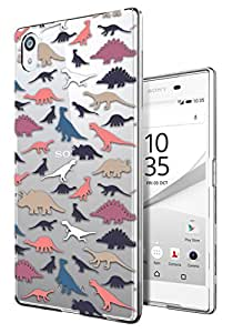c0136 - Cool Fun Multi Dinosaurs Design Sony Xperia Z5 Fashion Trend CASE Gel Rubber Silicone All Edges Protection Case Cover