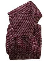 Elizabetta Men's Italian Handmade Silk Grenadine Tie, Extra Long, Garza Grossa