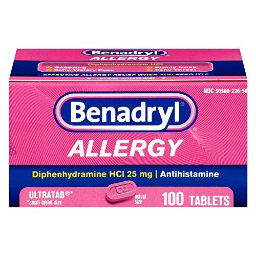 Benadryl Allergy Ultratab Tablets, 100 tablets (Pack of 2) by Benadryl