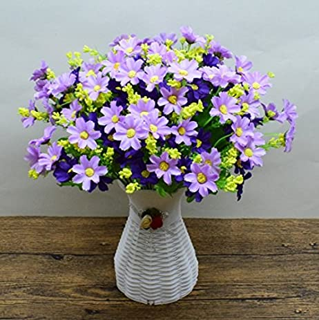 Amazon xhopos home artificial flowers vases plum blossom purple xhopos home artificial flowers vases plum blossom purple real touch silk flowers home wedding party living mightylinksfo