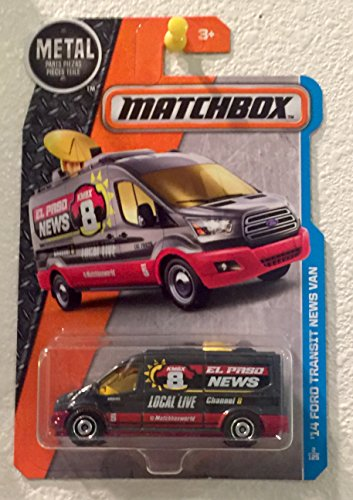 Matchboc  2016 Mbx Adventure City  14 Ford Transit News Van  Dark Gray   2 125
