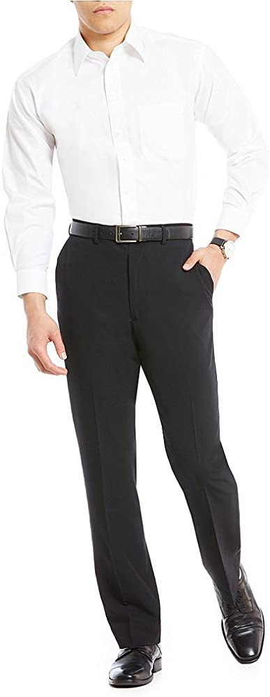 The Perfect Pants Mens Slim Fit Hidden Expandable Waist Wrinkle Free Shirt Gripper Stretch Fabric Trousers Dress Pants