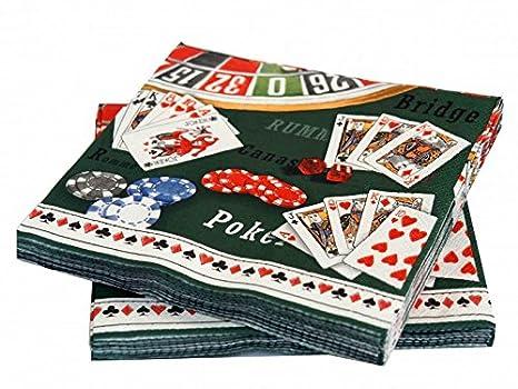 20 Servilletas Poker Casino mesa decoración fiesta ...