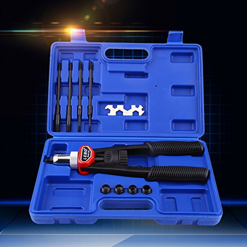 OKSLO GLOGLOW 1 Set Hand Nut/Thread Riveter Kit Rivet Gun with Nosepieces,Nut Rivet Gu