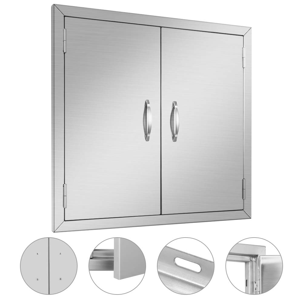 MorNon BBQ Access Door 304 Stainless Steel Outdoor Kitchen Doors for Grilling Station, Outside Cabinet, Barbeque Grill (24 X 24inch)