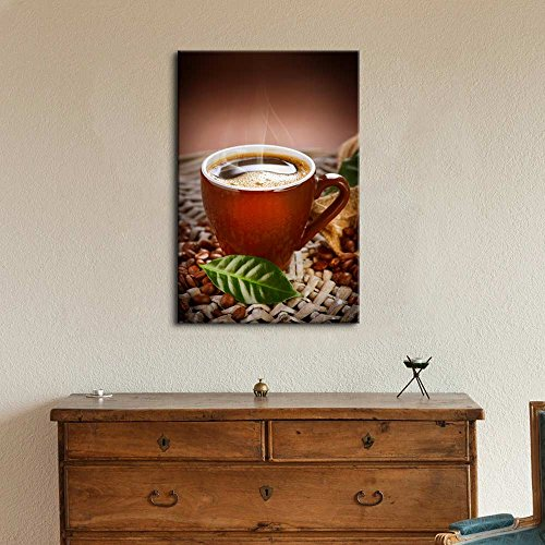 Coffee Cup with Coffee Beans Wall Decor