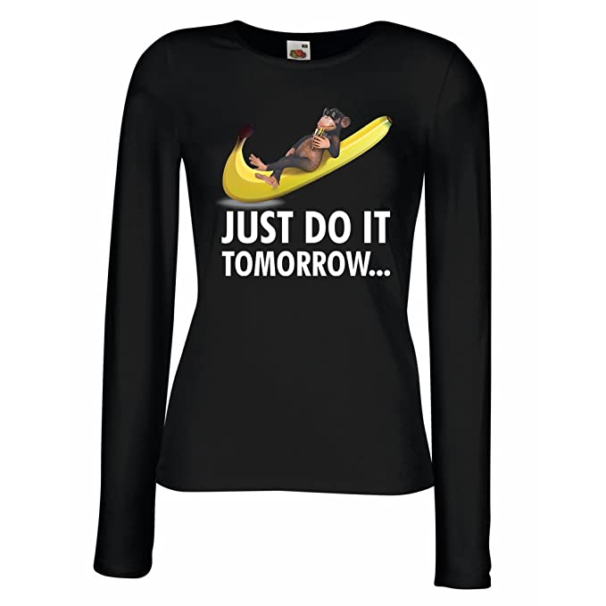 0e9b25ff80f1d Amazon.com  lepni.me T Shirt Women Just Do it Tomorrow .  -Lazy Funny Joke  Parody Slogan