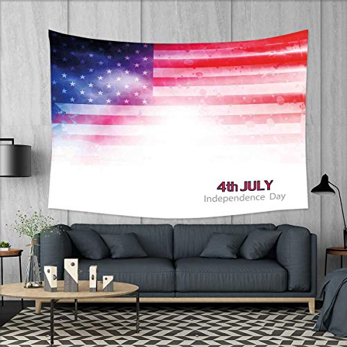smallbeefly 4th of July Wall Hanging Tapestries American Fla