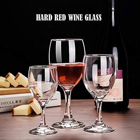 Copas de Vino Baratas, Conjunto de 6 Copas de Vino Tinto, Vino Adecuado para Toda la ocasión, lavavajillas y Caja de Seguridad de microondas. para casa (Size : 295 ML-1)