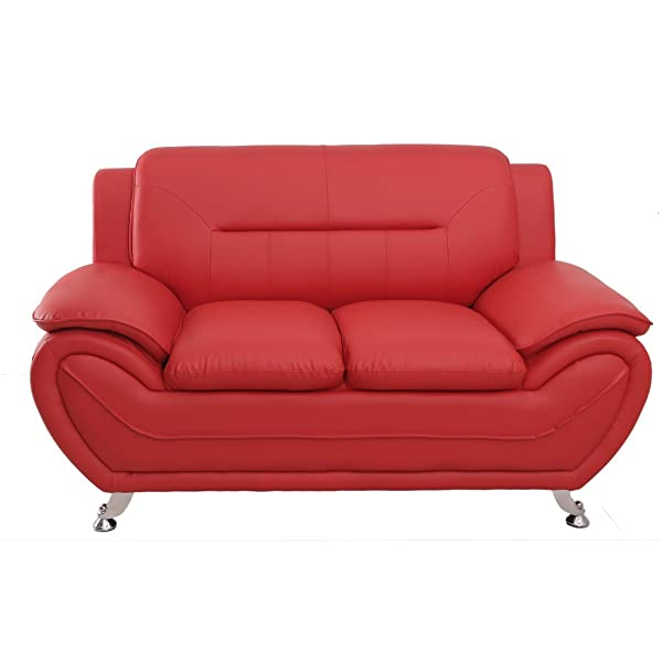 Container Furniture Direct S5396-L Michael Loveseat, Red