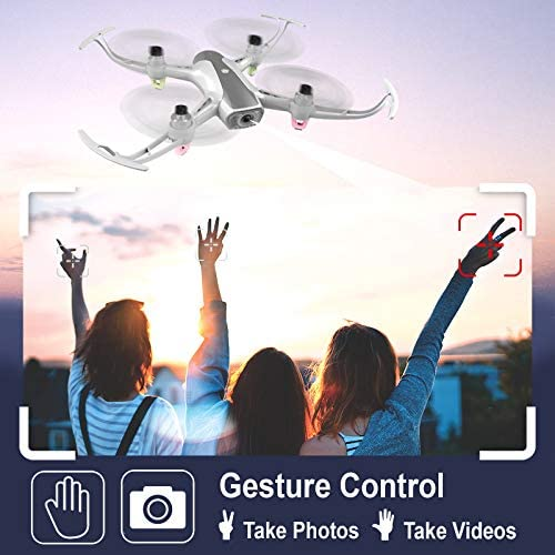 Cheerwing W1PRO GPS Drone with 1080P Camera for Adults, Quadcopter with Brushless Motor, Auto Return Home, Follow Me, Gesture Control, Long Flight Time 51uy36yaCDL