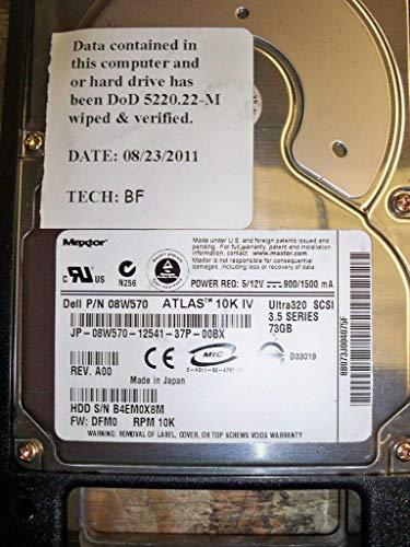 Maxtor 73GB 10K ULTRA320 SCSI Disk 3.5 INCH RPM Atlas IV 3.5IN Ultra 320 REV A00 F/W: DFM0