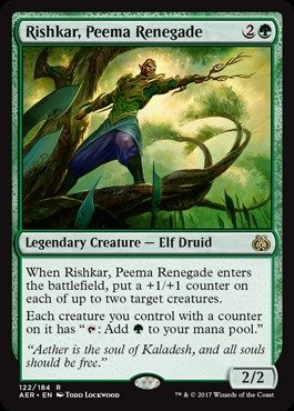 Magic: the Gathering - Rishkar, Peema Renegade (122/184) - Aether Revolt