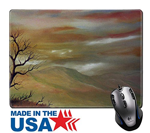 "MSD Natural Rubber Mouse Pad/Mat with Stitched Edges 9.8"" x 7.9"" Nice small scale watercolor painting on paper IMAGE 11089426"