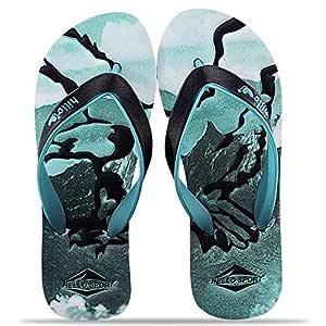 Outdoor Leisure Skid Feet Men's Flip Flops Sandals Leisure Casual Braid Strap Thongs Flat Beach Slippers Shoes - Green 43
